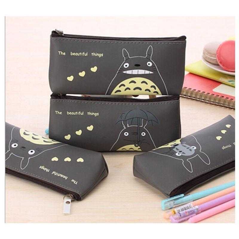 Hot Sale Kawaii My Neighbor Totoro Pencil Case School Kids Pen Bag Girl's Cosmetics Purse Bag Wallet Coin Purse Gift School Stationery Regular Tea Drinking Improves Your Health