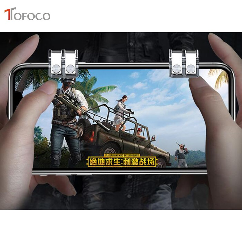 Image 2 - New R11s Gamepad PUBG Mobile Controller Trigger Control Cell Phone Gamepad L1R1 Gaming Shooter for Iphone Android Joystick-in Gamepads from Consumer Electronics