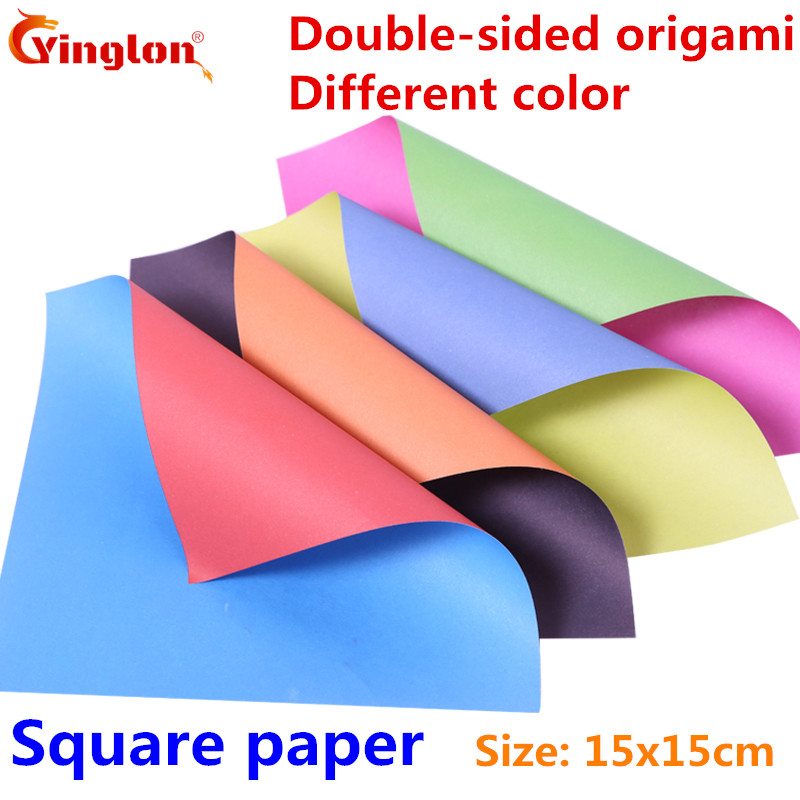 Folding Paper Handmade Colour Double Sided Different Colors Origami Paper Mix Color Paper DIY Kid Square Paper Cranes Origami