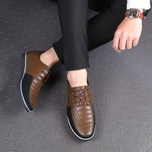 Image 5 - 2019 حذاء كاجوال رجالي موضة مسطحة أحذية رجالي فاخرة مريحة للكبار # GY3595