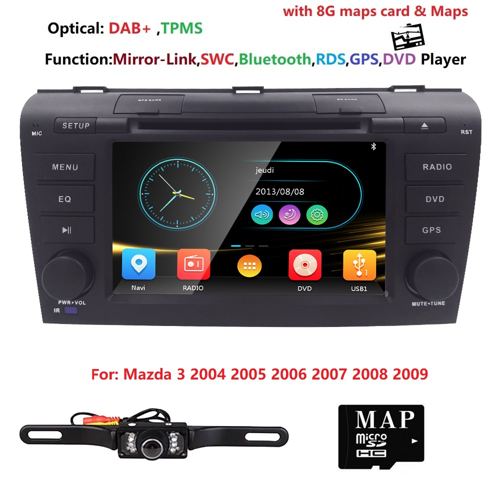 7  U0026quot Double 2 Din Car Dvd Player For Radio Mazda 3 2004 2005
