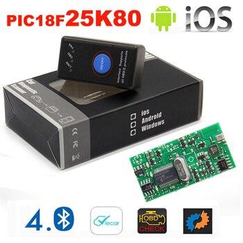 2019 nouveau Mini orme 327 Bluetooth 4.0 avec interrupteur d'alimentation 25K80 ELM327 V1.5 OBD2 Interface outil de numérisation pour IOS Android