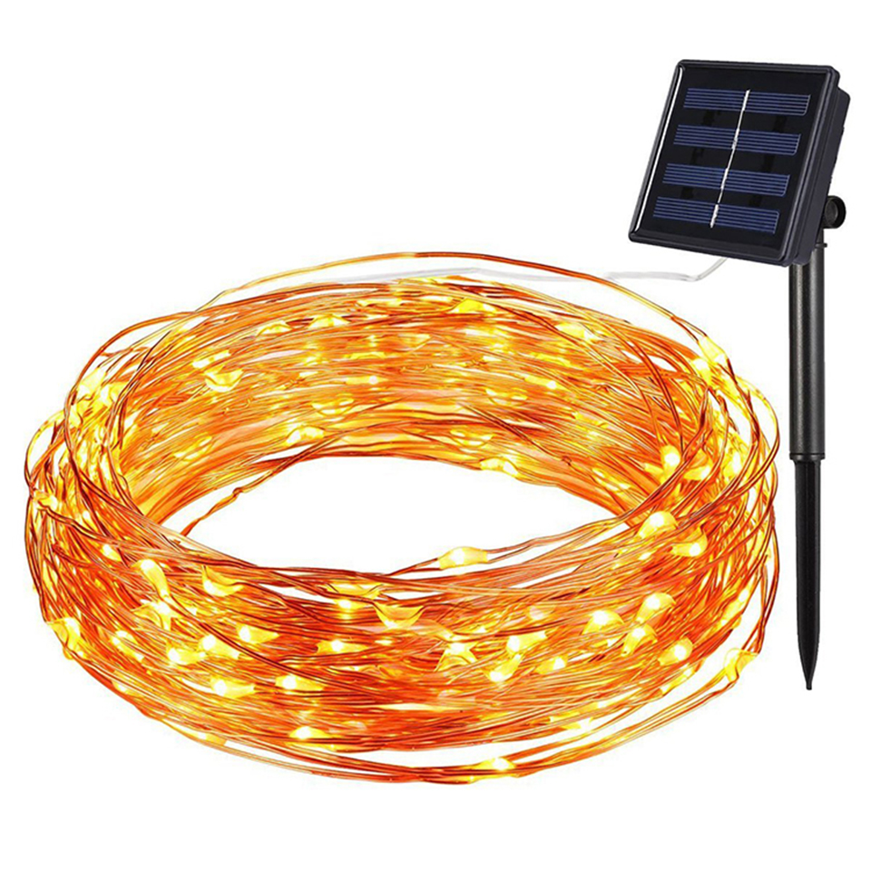 2/5/10/20M Garland String Lamp USB Fairy Lights LED Outdoor Solar String Lights Wedding Xmas Christmas Holiday Decoration Lights