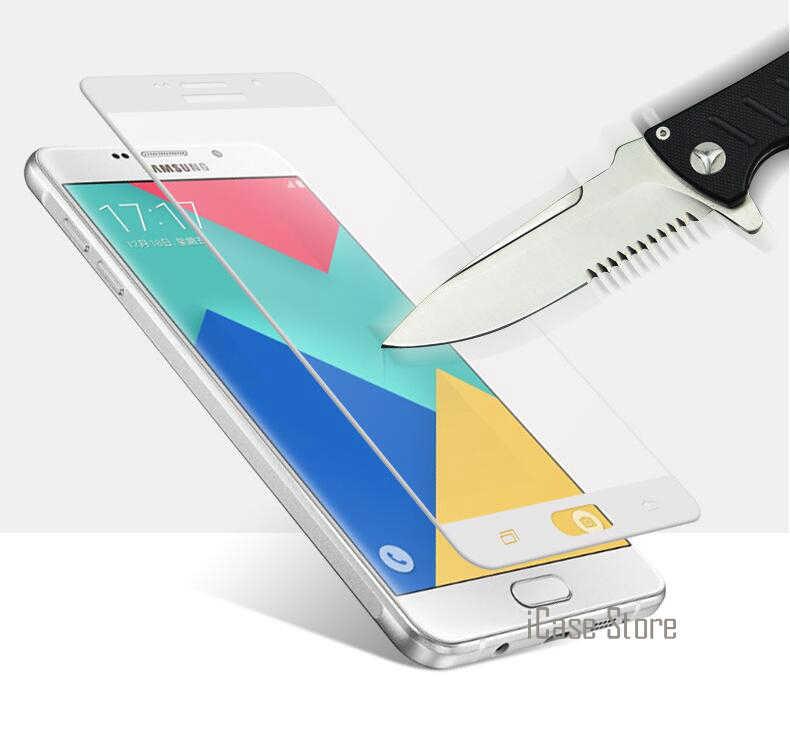 מלא כיסוי צבעוני מסך מגן מזג זכוכית עבור Samsung Galaxy A5 A3 2017 A7 A8 2016 C5 C7 פרו S7 s6 S5 J5 J7 ראש S4