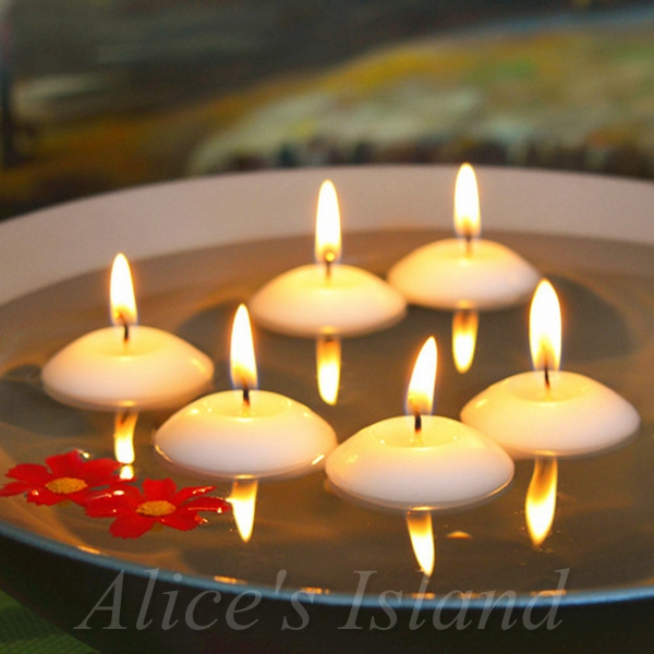 20pcs Lot Small Unscented Floating Water Floating Candles Home Decoration Wedding Birthday Party Dedals Paraffin