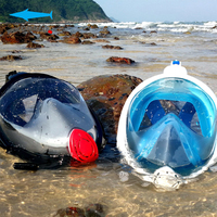 New Full Face Anti fog Snorkeling Diving Mask Anti skid Ring Snorkel Scuba GoPro Camera Snorkel Masks Underwater