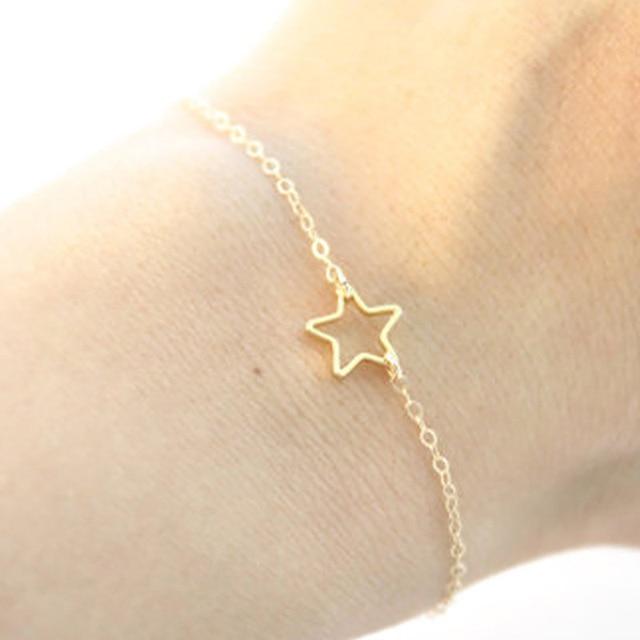 Summer Gold Chain Bracelets Bangles Star Bracelet Simple Wedding Gift Sl041