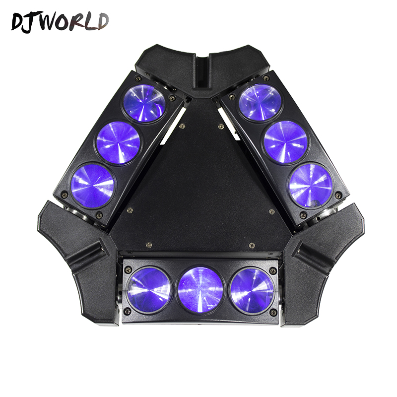 Fast Shipping Hot-Sell Mini LED Beam Spider 9x10W RGBW Moving Head Long Life Lighting DMX 512 Stage For Party Nightclub DJ 6pcs lot white color 132w sharpy osram 2r beam moving head dj lighting dmx 512 stage light for party