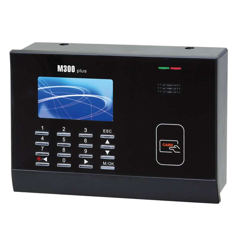 Free Shipping color screen TCP/IP 125K RFID card Time Attendance Card Time clock M300 With Free Software 3 inch color screen m200 ic 13 56mhz smart card time attendance time recorder time clock with tcp ip