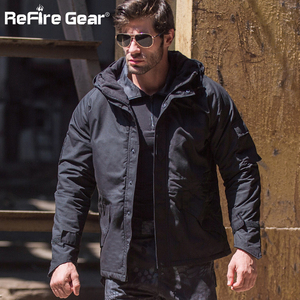 Image 5 - ReFire ציוד חורף הסוואה טקטי מעיל גברים עמיד למים חם עבה אוניית צמר מעיל רוח סלעית צבא שדה צבאי מעיל