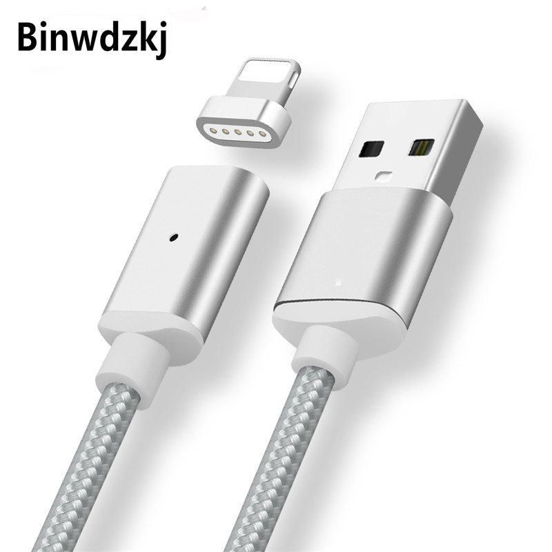 1M Magnetic <font><b>Charger</b></font> Cable For iPhone 7 8 X <font><b>5</b></font> 5s 6 6s Plus iPad Phones Fast Charging Max 2.4A Magnet <font><b>Charger</b></font> Data <font><b>USB</b></font> Cables Wire image