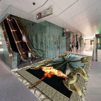 Free Shipping 3D Stereo Custom Flooring Hell Door Shopping Mall Bedroom Painting Floor Stickers Wallpaper Mural