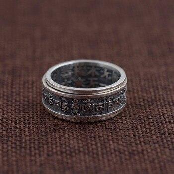 0c416b9d14ad Bestlycomprar 925 Anillos Sutra budistas de plata esterlina 100% genuinos  para Mujeres Hombres regalo joyería religiosa anillo de plata tailandés  Anillos