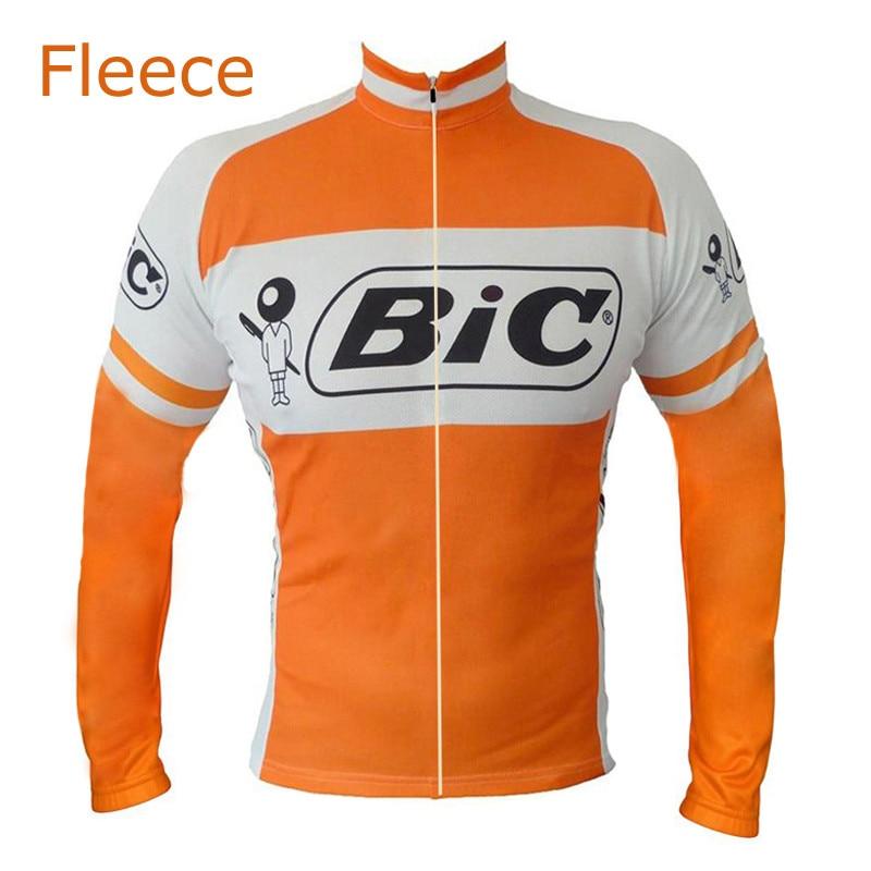 Цена за 2017 Испания Мужчины Зима Orange Велоспорт Джерси с Длинным рукавом Тепловые Руно Зима Велосипед ДОРОЖНЫЙ Велосипед Clothing Гоночный Велосипед Одежды