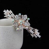 1pcs Crystal Vintage Style Wedding Side Tiara Pearl Crystal Headband Hairpin Clip NEW