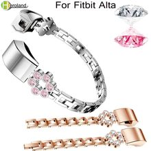 Wristband Band Strap Bracelet For Fitbit Alta/For Fitbit Alta HR Watch Band High Quality Replacement Alloy Crystal Rhinestone black one alta 26 alloy рама 14 5 h000006685 фиолетово розовый
