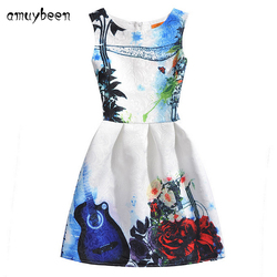 2017 summer style sleeveless mother kids dress girl dress printed kids dresses girls clothes party princess.jpg 250x250