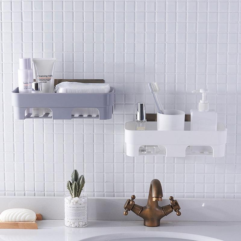 Bathroom Bathtub Shower Caddy Holder Towel Rack Shelf Organizer Accessory