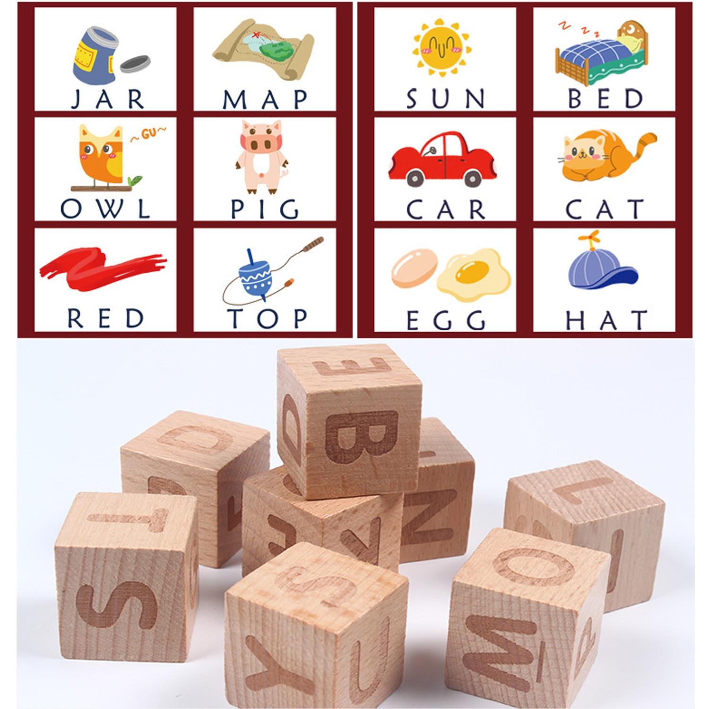 Crianças montessori cartão cognitivo de madeira cartão