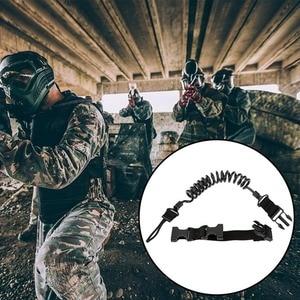 Image 2 - Durable Elastic Outdoor Tactical Safety Lanyard Quick Release Belt Extension type Sling Adjustable Belt Combat Accessories