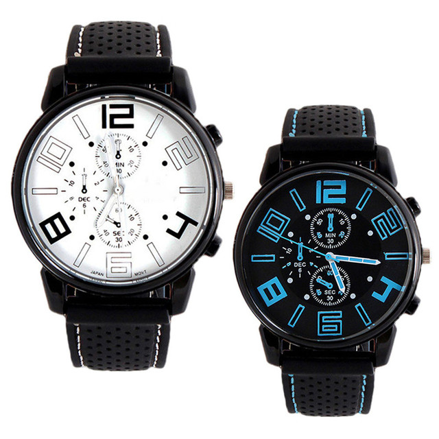 Stainless Steel Cool Design Quartz Wristwatch for Men