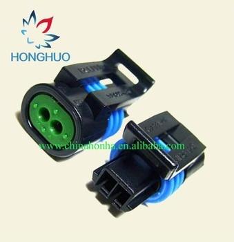 100pcs/lot 2 pin Manifold Intake Air Temp IAT MAT ACT Sensor Car weatherproof plug-in Connector terminal  12162197