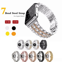 316L Stainless Steel Band For Apple Watch 38mm 42mm Strap Butterfly Buckle Watchband 18 20mm Meta