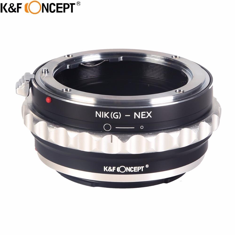 K & F KONZEPT Kamera Objektiv Mount Adapter Ring für Nikon G Objektiv Fit Für Sony NEX E-Mount NEX3 NEX5 NEX5N NEX7 NEX-VG1 Original neue