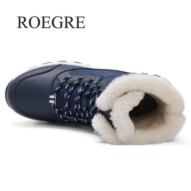 Women boots non-slip waterproof winter ankle snow boots women platform winter shoes with thick fur botas mujer 4