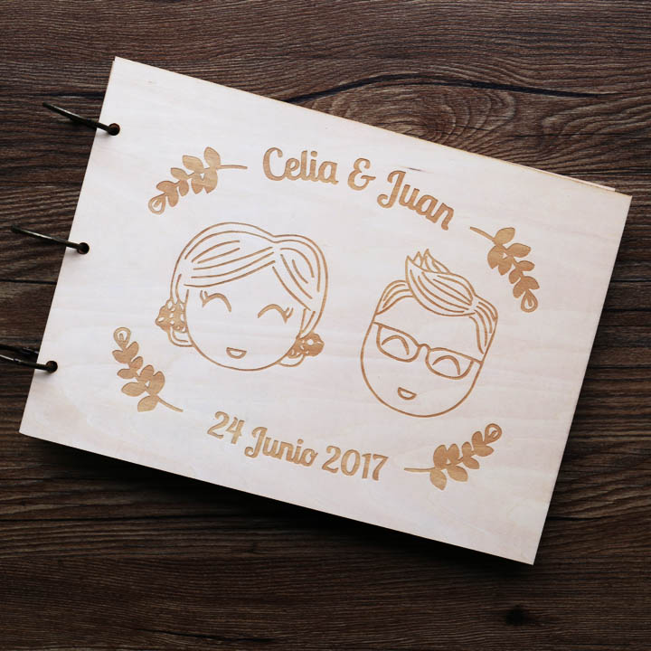 Personalized funny Wedding Guest Book, bride and groom Wood guest book, wedding Photo Album, wood memory album