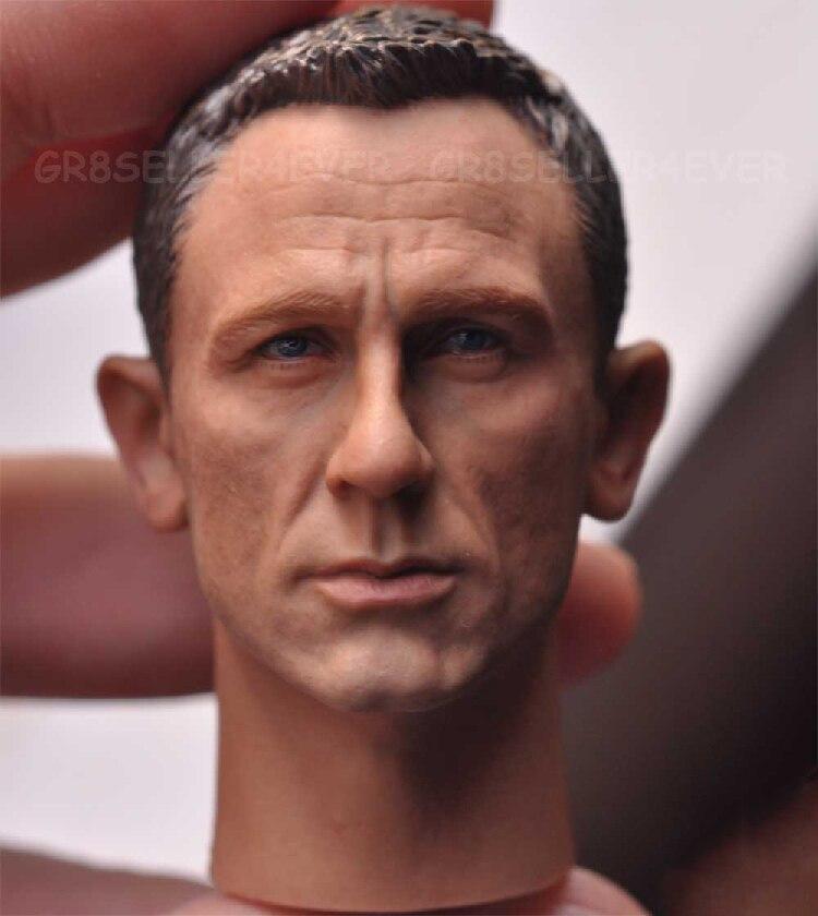 1/6 мужской головы Sculpt для 12 фигурку тела солдат глава Модель игрушки Дэниел Крейг Джеймс Бонд 007 агента ...