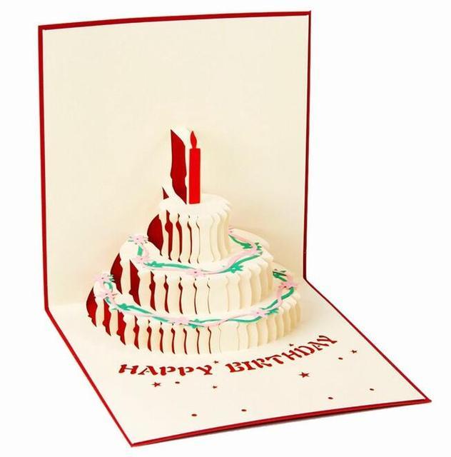 3d Pop Up Biglietto Di Auguri Fai Da Te Buon Compleanno Pasqua Torta