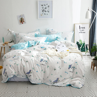 100% Cotton Bedding Set Nature Soft Duvet Cover Quilt Cover Bed Cover Pillow Cases Double Queen King Flat Sheet Fitted Sheet