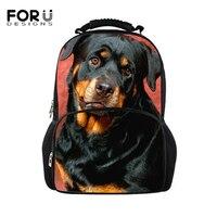 FORUDESIGNS Rottweiler Pet Dog Print Backpacks Cute Animal Daypack For Women Men New Style Teenager School