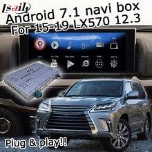 Caja de interfaz Android/carplay para Lexus LX570 LX 2015-2020 12,3 Interfaz de vídeo con control de ratón youtube android auto LX450d