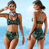2017 Sexy Handmade Crochet Bikini Women Swimsuit Swimwear Push Up Bikini Set Halter Bathing Suit Summer