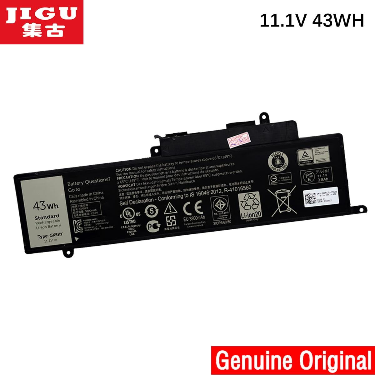 JIGU 100% New Genuine Original GK5YK Battery For DELL Inspiron 13 7347 Series Laptop Type GK5KY 04K8YH 11.1V 43WH