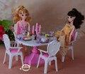 Куклы мебель для куклы барби 1/6 свечах обеденным столом столовой мебели аксессуары игровой набор девочек игрушки