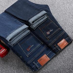 Image 3 - Grote Maat 42 44 46 2020 Voorjaar Nieuwe Mannen Jeans Business Casual Stretch Straight Denim Broek Broek Mannen Merk kleding