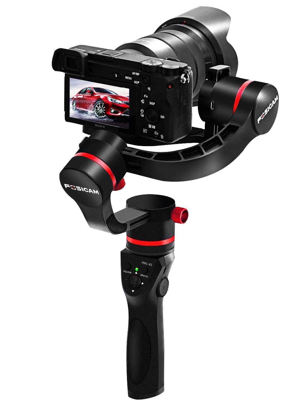 3 axis handheld encorder gimbal stabilizer for mirrorless micro DSLR cameras 45 degrees up to 3