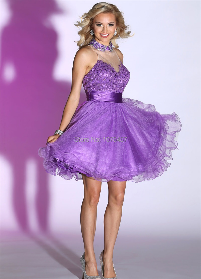 Online Buy Wholesale short lavender prom dresses from China short ...