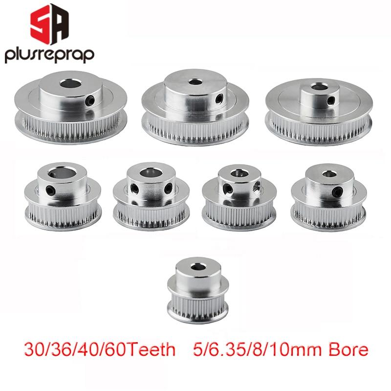 5PCS 20T GT2 Timing Pulley 5//8mm Bore FOR 6mm Belt Reprap 3D printer part CNC