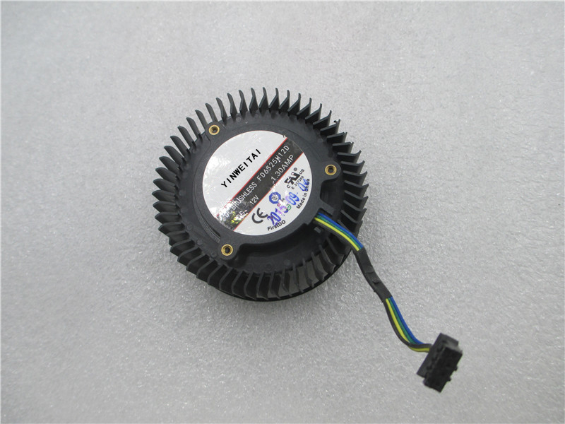 Free Shipping FD6525H12D 65mm 12V 1.3A 4 Pin Video Card Cooler Fan For AMD Radeon R9 270 270X Graphics Card Cooling Fan free delivery original afb1212she 12v 1 60a 12cm 12038 3 wire cooling fan r00