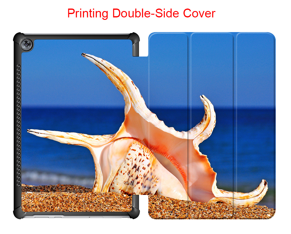 Beach Conch Stand Cover Case For Huawei Mediapad M5 10.8 Case Cover For Huawei Mediapad M5 Pro 10.8 CMR-AL09/CMR-W09/CMR-W19