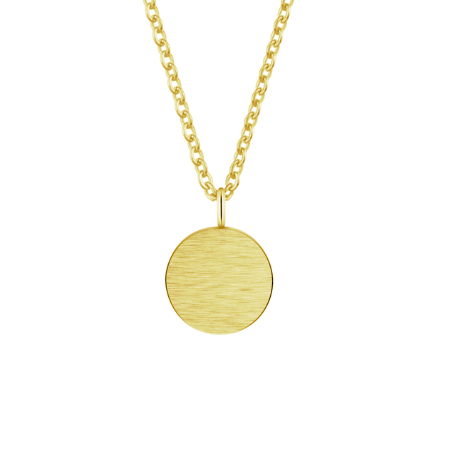Wholesale 10piece stainless steel gold shiny tiny disc pendant wholesale 10piece stainless steel gold shiny tiny disc pendant necklace for women minimal round jewelry silver aloadofball Image collections