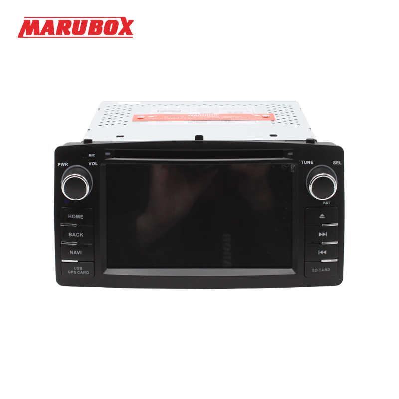MARUBOX 6A900DT3, Автомобильный мультимедийный проигрыватель для Защитные чехлы для сидений, сшитые специально для Toyota Corolla E120 BYD F3, 4 ядра, Android 7,1, 2 Гб Оперативная память 32 GB Встроенная память, DVD, gps, USB, радио