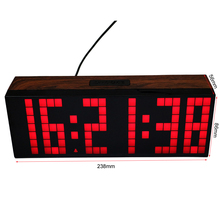 Big Font LED Digital Alarm Temperature Calendar Wall Clocks Countdown Timer Sport Timer Large Led Display Alarm Clock