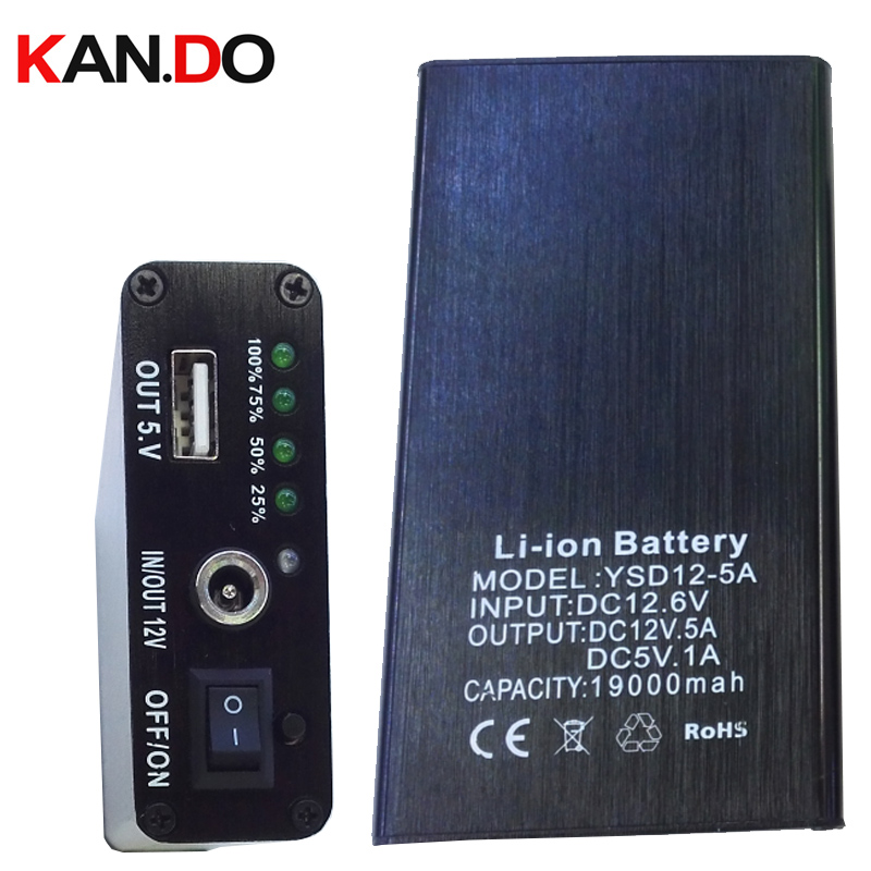 CE ROHS aluminium dual output 5V 19000Mah POWER bank DC 12V lithium battery pack smart power