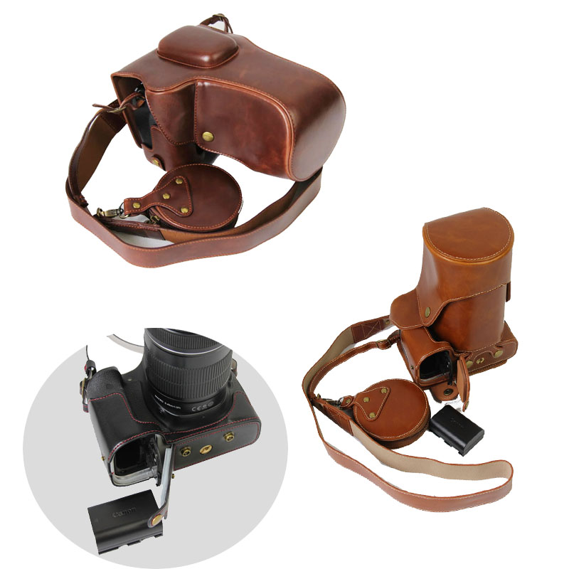 Luxury PU Leather Camera Case Bag For Canon 5D4 5D2 5D3 5D Mark III 5D Mark