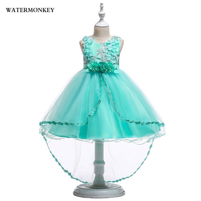 Gyermek ruha kisgyermek lányok hercegnő ruha hímzés Virág Lányok ... b645b7fc42